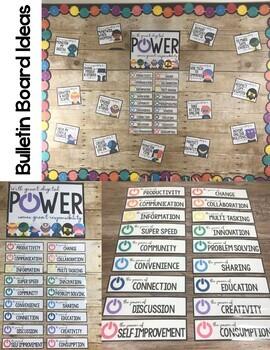 Digital Citizenship Bulletin Board: Super Hero Theme