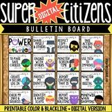 Digital Citizenship Posters & Bulletin Board Set: Super He