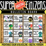 Digital Citizenship Posters & Bulletin Board Set: Super He