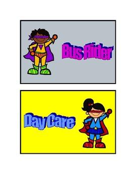 Super Hero Dismissal Cards
