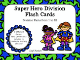 Super Hero Division Flash Cards and Certificates
