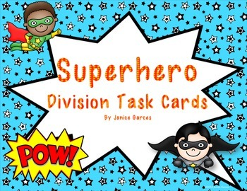 Super Hero Division Word Problems