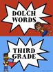 Super Hero Dolch Words Clip Chart