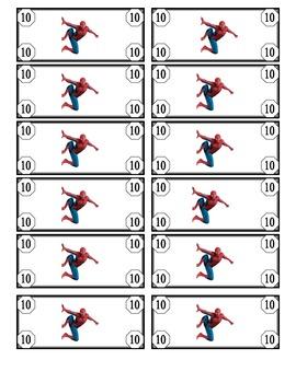 Super Hero Dollars - Classroom Management