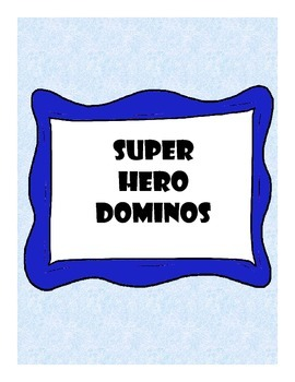 Super-Hero Dominoes