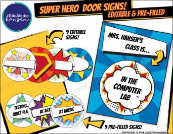 Super Hero Door Sign