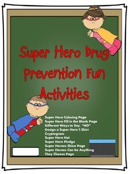 Drug Free Super Hero Activity Booklet