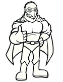 Super Hero Eagle Mascot