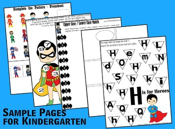 Super Hero Worksheets (Toddler, Preschool, Kindergarten +)
