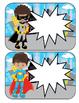 Super Hero Editable Desk Plates or Reward Certificates 30