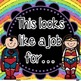 Super Hero Editable Job Cards *Glittery Rainbow*