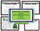 Super Hero Editable Parent / Teacher Conference Reminders,