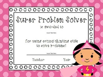Super Hero End of the Year Awards {editable}