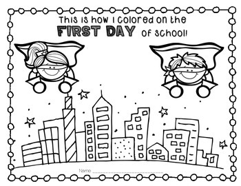 Super Hero FREEBIE: This is how I colored on the 1st Day of School