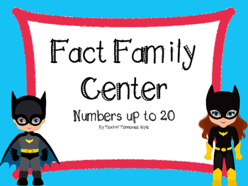 Super Hero Fact Family Center (up to 20)