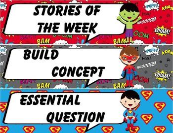 Super Hero Focus Wall Toppers/Headers