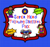 Super Hero Following Directions Pack