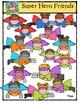Super Hero Friends {P4 Clips Trioriginals Digital Clip Art}