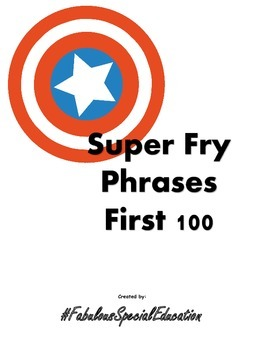 Super Hero Fry Phrase First 100