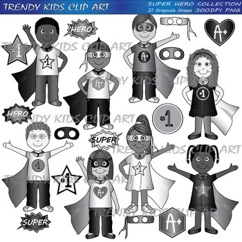 Super Hero Full Clip Art Collection