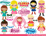 Super Hero Girls Clip Art school halloween decor comic book birthday Power -049-