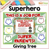 """Super Hero """"Giving Tree""""/ Wish List Donations (Other Themes Available Inside)"""
