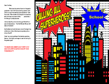 Super Hero Graduation Program
