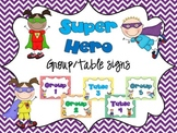 Superhero Group/Table Signs