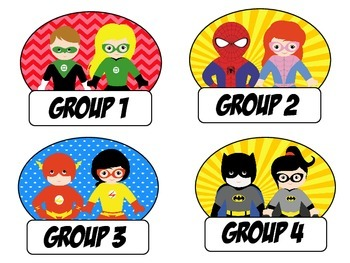 Super Hero Groups