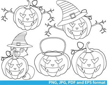 Super Hero Halloween Clip Art SCHOOL outline stamp color page line Print -129-