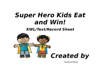 Super Hero Healthy Eating