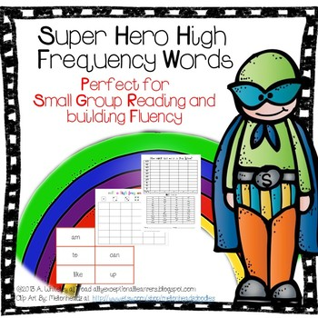 Super Hero High Frequency Words