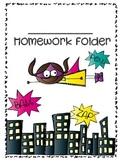 Super Hero Homework Folder Cover