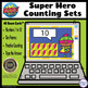 Super Hero – How Many? Ten Frame Counting – BOOM Cards Digital Activity