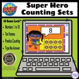 Super Hero – How Many? Ten Frames BOOM Cards Digital Dista