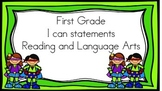 Super Hero I Can Statements 1st Grade