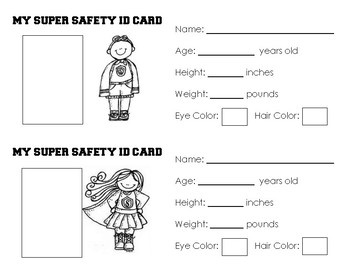 Super Hero ID Card
