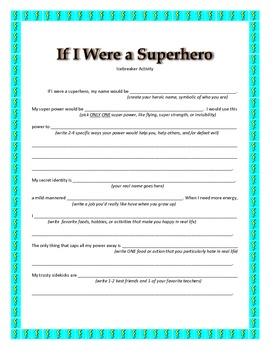 Super Hero Ice Breaker