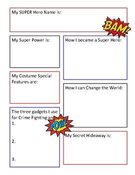 Super Hero Identity Poster