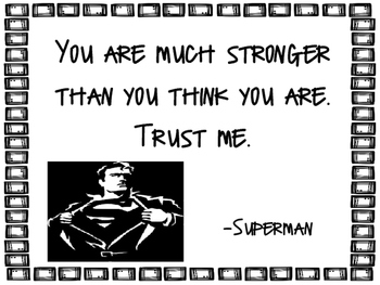 Super Hero Inspirational Quote Posters