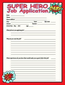 Super Hero Job Application