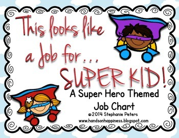Super Hero Job Chart