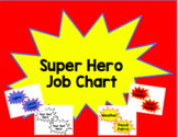 Super Hero Job Chart- Editable