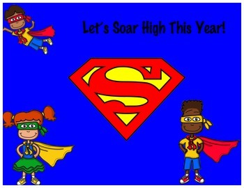 Super Hero Kids Bulletin Board
