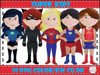 Super Hero Kids Clip Art