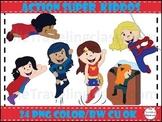 Super Hero Kids Clip Art