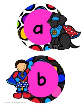 Super Hero Kids Letter Cards