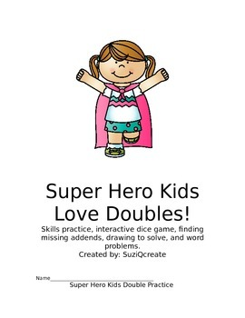 Super Hero Kids Love Doubles