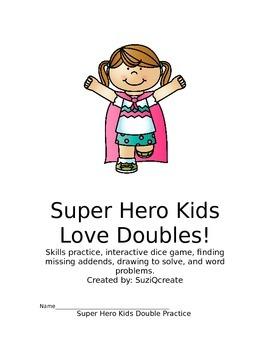 Super Hero Kids Love Doubles