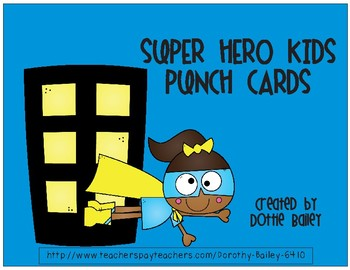 Super Hero Kids Punch Cards